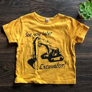 CAT. Construction Tee. Size 2T.